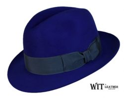 Kapelusz Fedora Royal Blue